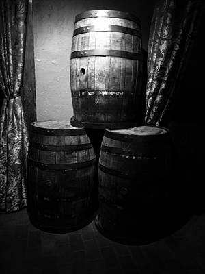 Photograph - Wine Barrels by Trent Mallett
