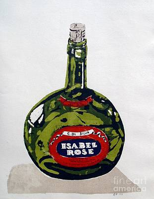 Mixed Media - Wine Bottle by Ron Bissett