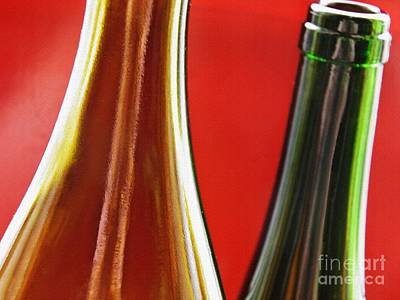 Photograph - Wine Bottles 7 by Sarah Loft
