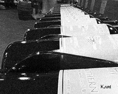 Photograph - Wine Bottles A Row by Kami Catherman