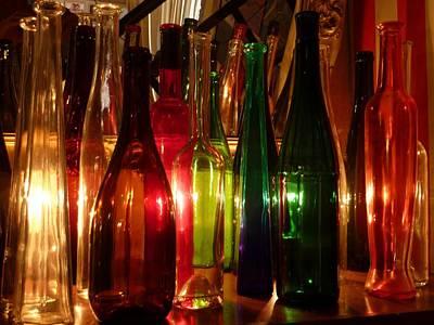 Winebottle Photograph - Wine Bottles by Humphrey Janga