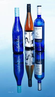 Photograph - Wine Bottles  by OLena Art Brand