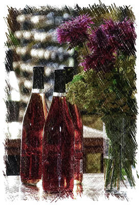 Rack Mixed Media - Wine Bottles Pa Vertical by Thomas Woolworth