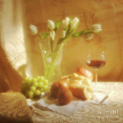 Tulips For The Home Photograph - Wine, Bread And Thou by Georgia Sheron