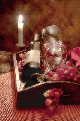 Candle Lit Photograph - Wine By Candle Light II by Tom Mc Nemar