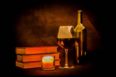 Wine Cellar Photograph - Red Wine By Candlelight by Erin Cadigan
