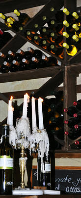 Wine By Candlelight Art Print by Rose  Hill