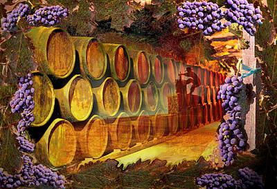 Digital Art - Wine Cellar by Richard Nickson