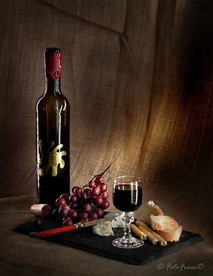 Photograph - Wine Cheese Grapes by Alexander Fedin