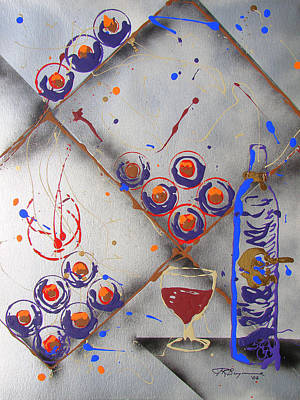 Wine Rack Painting - Wine Connoisseur by J R Seymour