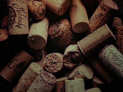 Wine Cellar Photograph - Wine Cork Macro by Daniel Hagerman