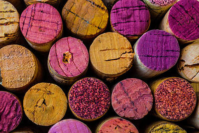 Wine Corks Close Up Print by Garry Gay