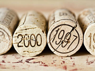 Food And Beverage Royalty-Free and Rights-Managed Images - Wine Corks by Frank Tschakert