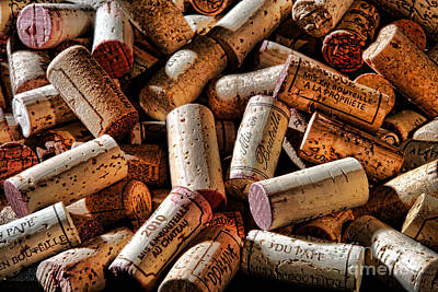 Stopper Photograph - Wine Corks  by Olivier Le Queinec