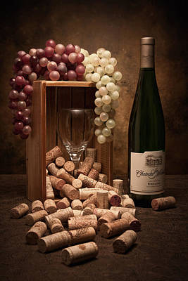 Grapes Photograph - Wine Corks Still Life II by Tom Mc Nemar