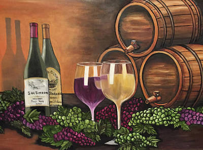 Wine Accessories Painting - Wine Country by Carol Donahue
