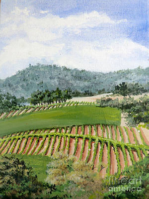 California Vineyard Painting - Wine Country by Mary Palmer