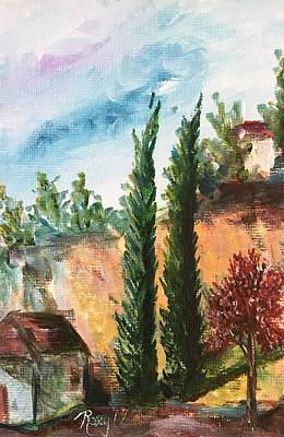 Landscape Painting - View Of Rancho California Road by Roxy Rich