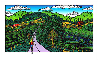 Painting - Wine Country Run by Phil Dynan