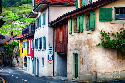 Wine Cellar Photograph - Wine Country Village In Lavaux by George Oze