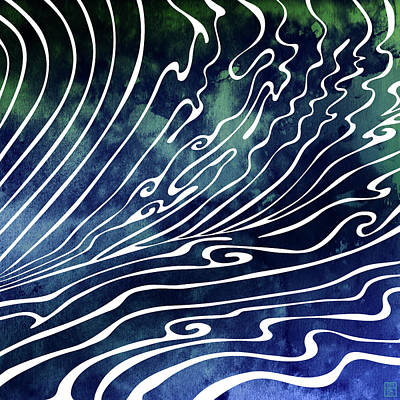 Waves Digital Art - Wine Dark by Stevyn Llewellyn