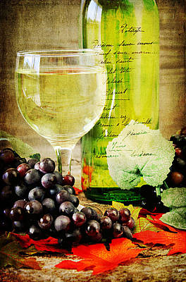 Wine Art Print by Darren Fisher