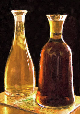 Digital Art - Wine Decanters by Dennis Cox Photo Explorer