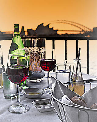 Photograph - Wine Dine With Harbour View  by Miroslava Jurcik