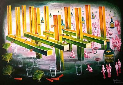 Painting - Wine Fine Port by Santiago Ribeiro