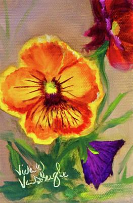 Painting - Wine Flash Pansies 2 by Vicki VanDeBerghe
