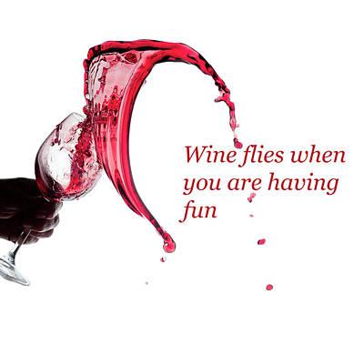 Photograph - Wine Flies When You Are Having Fun by Dan Friend
