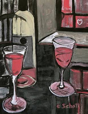 Painting - Wine For Two by Christina Schott