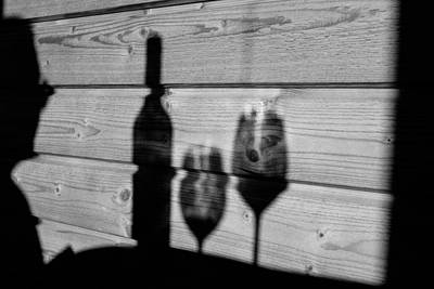 Black And White Photograph - Wine For Two by Jimmy Karlsson