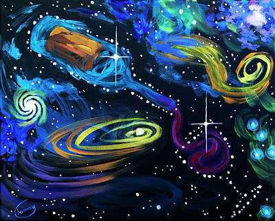 Painting - Wine Galaxy by Tommy Midyette