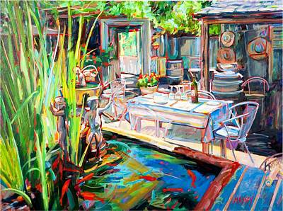 Carmel Valley Painting - Wine Garden by Marie Massey