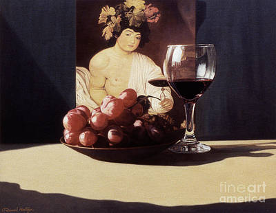 Painting - Wine Glass And Bowl Of Grapes by Daniel Montoya