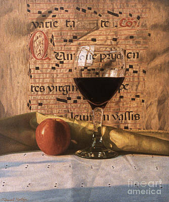 Painting - Wine Glass And Manuscript by Daniel Montoya