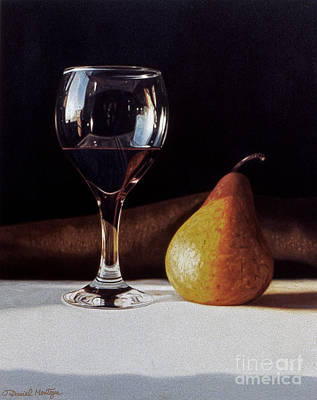 Painting - Wine Glass And Pear by Daniel Montoya