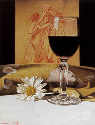 Painting - Wine Glass And Three Graces by Daniel Montoya
