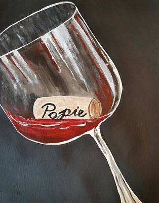 Painting - Wine Glass by Carol Duarte