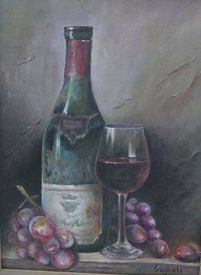 Wine Glass Original by Illa Vaghela