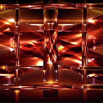 Digital Art - Wine Glass Maze by Gayle Price Thomas