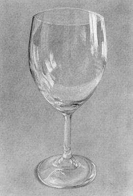 Drawing - Wine Glass Still Life by Nolan Clark