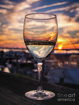 Photograph - Wine Glass Sunset In The Hamptons by Alissa Beth Photography