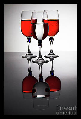 Photograph - Wine Glass Trio by Darleen Stry