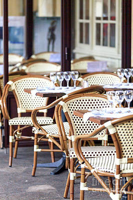 Photograph - Wine Glasses On The Table Paris by John Rizzuto