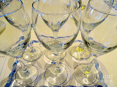 Photograph - Wine Glasses by Randall Weidner