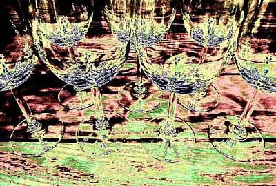 Wine Glasses Art Print by Will Borden