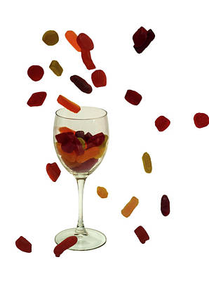 Art Print featuring the photograph Wine Gums Sweets by David French