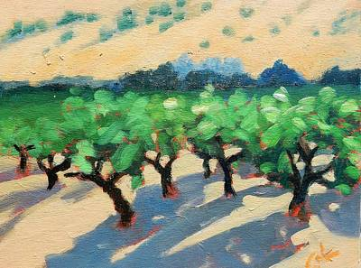 Print featuring the painting Wine Habitat by Gary Coleman